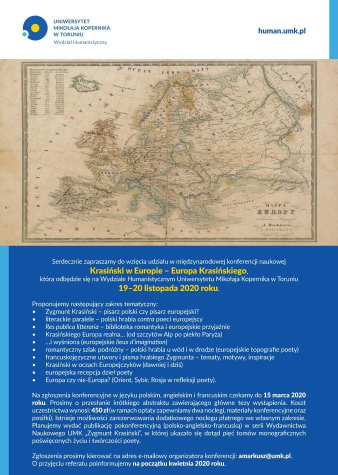 Plakat Krasiński w Europie PL